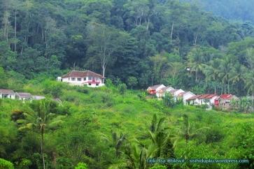 Ini bukan di Puncak. Rumah-rumah yang tumbuh di kaki gunung Walat.