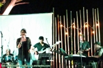 Sastrani on stage.